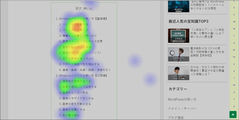 Aurora Heatmapの画面