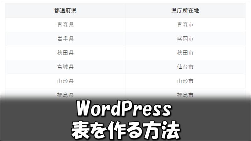 WordPressで表を作る3つの方法!コツや注意点も解説